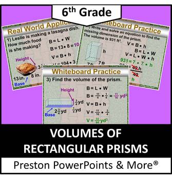 (6th) Volume of Rectangular Prisms in a PowerPoint Presentation