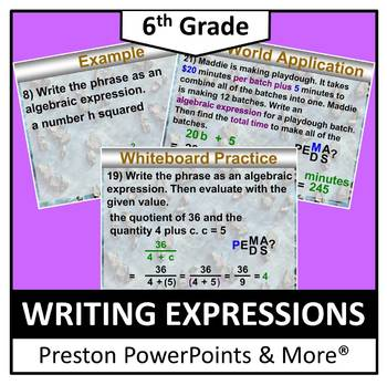 (6th) Writing Expressions in a PowerPoint Presentation