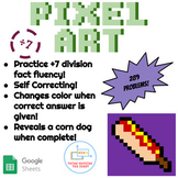 ÷7 Division Pixel Art! Digital Practice for Math Facts with Secret Reveal!