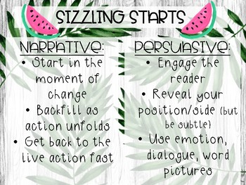 """""""7 Steps to Writing Success"""" Posters - Fruit Theme"""