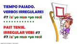 #7. Verbos Irregulares en tiempo pasado en español.