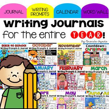 Writing Prompt Journals: A Year-long BUNDLE
