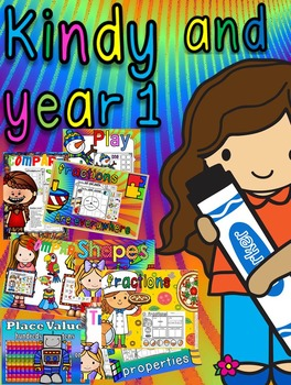kindergarten and year 1 maths products for 2016