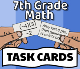 *7th GRADE MATH TASK CARDS* (with Answer Key!)