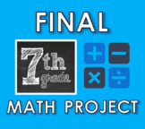 7th Grade Math - END OF YEAR PROJECT (EDITABLE!)