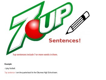 ---->7UP WRITING