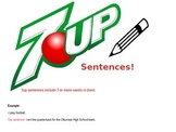 ---->7UP WRITING