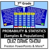 (7th) Quiz Show Game Probability (Samples and Populations) in a PowerPoint