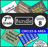(7th) Circles and Area {Bundle} in a PowerPoint Presentation