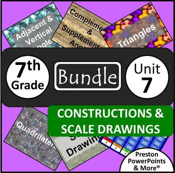 (7th) Constructions and Scale Drawings {Bundle} in a PowerPoint Presentation