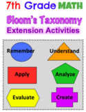 7th GRADE MATH - End of Year Activities (EDITABLE)