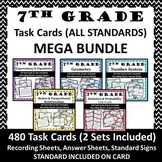 ⭐7th Grade Math Task Cards MEGA BUNDLE {ALL STANDARDS}⭐