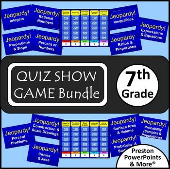 (7th) Quiz Show Game {Bundle} in a PowerPoint Presentation