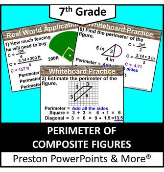 (7th) Perimeters of Composite Figures in a PowerPoint Presentation