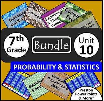 (7th) Probability and Statistics {Bundle} in a PowerPoint Presentation