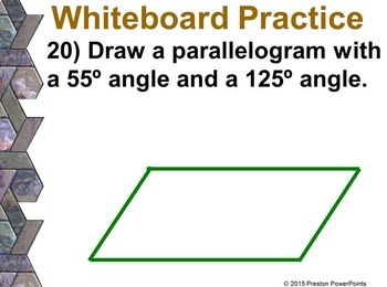 (7th) Quadrilaterals in a PowerPoint Presentation