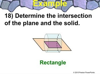 (7th) Volumes of Pyramids and Cross Sections in a PowerPoint Presentation