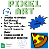 ÷8 Division Pixel Art! Digital Practice for Math Facts with Secret Reveal!
