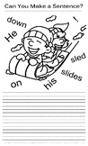 #8 FUN SENTENCE BUILDING WORKSHEET! GREAT PRINTING PRACTIC
