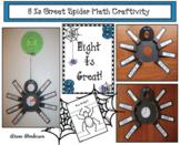 """Spider Activities: """"8 Is Great!""""  Spider Math Craft"""