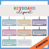 {8 Pack} Computer Keyboard Clipart