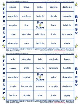 #8 Silent E Words Bingo Card Game