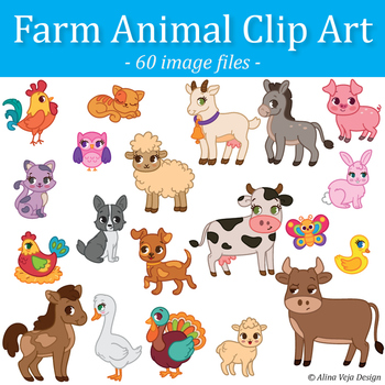 farm animals clip art by alina v design and resources tpt rh teacherspayteachers com farm animals clipart outline farm animals clipart png