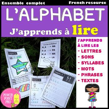 J'apprends à lire-10 Leçons {Alphabet, Syllabes} (Phonics, Reading, Writing)
