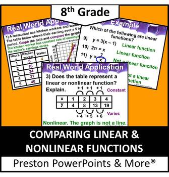 (8th) Comparing Linear and Nonlinear Functions in a PowerPoint Presentation
