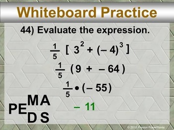 (8th) Exponents in a PowerPoint Presentation