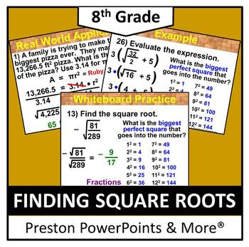 (8th) Finding Square Roots in a PowerPoint Presentation