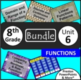 (8th) Functions {Bundle} in a PowerPoint Presentation