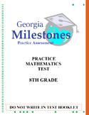(8th Grade) Mock Georgia Milestones (GSE) Math Practice Test Bundle