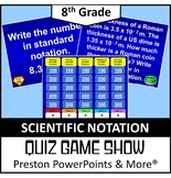 (8th) Quiz Show Game Scientific Notation in a PowerPoint P