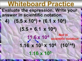 (8th) Operations in Scientific Notation in a PowerPoint Presentation
