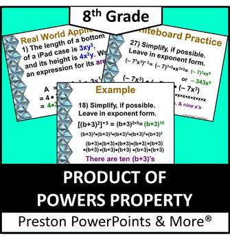 (8th) Product of Powers Property in a PowerPoint Presentation