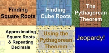 (8th) Real Numbers and The Pythagorean Theorem {Bundle} in a PowerPoint