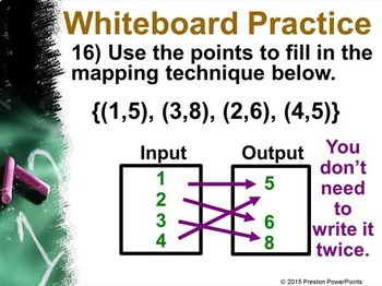 (8th) Relations and Functions in a PowerPoint Presentation