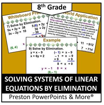 (8th) Solving Systems of Linear Equations by Elimination i