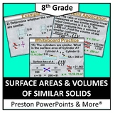 (8th) Surface Areas and Volumes of Similar Solids in a PowerPoint Presentation