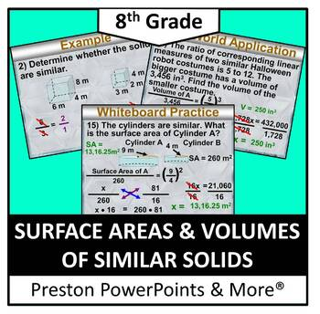 (8th) Surface Areas and Volumes of Similar Solids in a Pow
