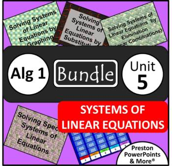 (8th) Systems of Linear Equations {Bundle} in a PowerPoint Presentation