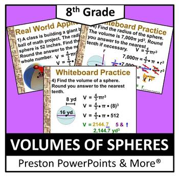 (8th) Volumes of Spheres in a PowerPoint Presentation