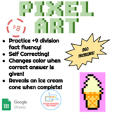 ÷9 Division Pixel Art! Digital Practice for Math Facts with Secret Reveal!