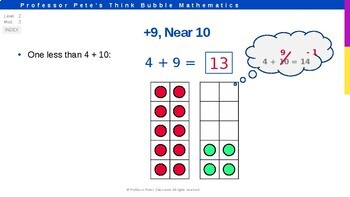 "+9 ""Near Ten"" Addition Facts with Strategies, Practice Set K PPT (Lesson 1) FREE"