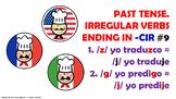 #9. Verbos Irregulares en tiempo pasado en español.