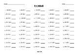 (9 x) Nine Multiplication / Times Tables Worksheets / Booklet