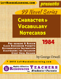 {99 Novel} 1984 by George Orwell Character & Vocabulary notecards