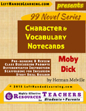 {99 Novel} Moby Dick by Herman Melville Character & Vocabulary notecards