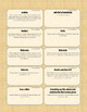 {99 Novel} My Antonia by Willa Cather Character & Vocabulary notecards